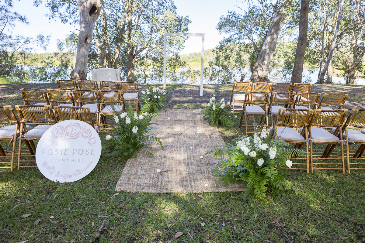 white arbour 120 rosie pose event hire luxe wedding hire