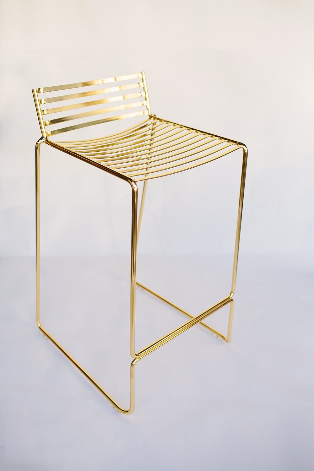 Studio Wire Bar Stool – Gold / $20