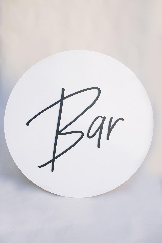 Bar Sign / $30