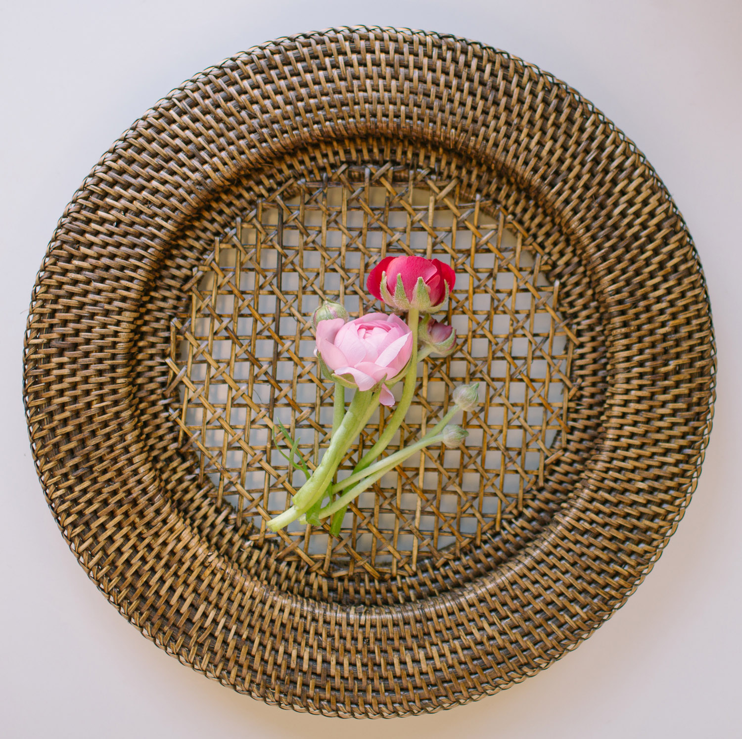 Rattan Charger Plate / $3